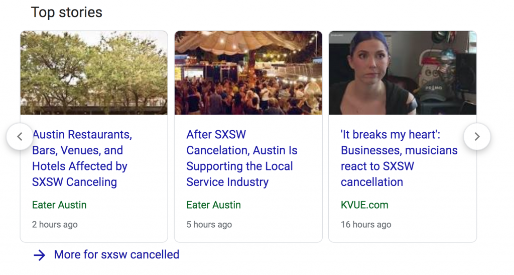 News of SXSW Cancelled for coronavirus