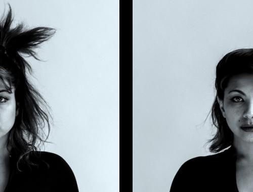 double image of Genevieve Artadi studio portrait