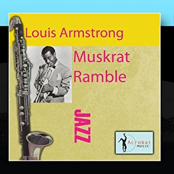 Louis Armstrong clarinet album Muskrat Ramble cover