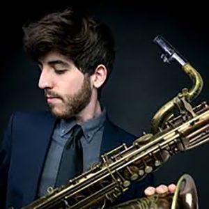 Nick Ellman holding saxophone