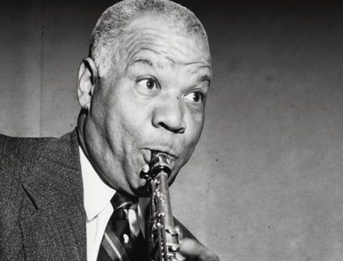 The Essential Sidney Bichet album image playing clarinet
